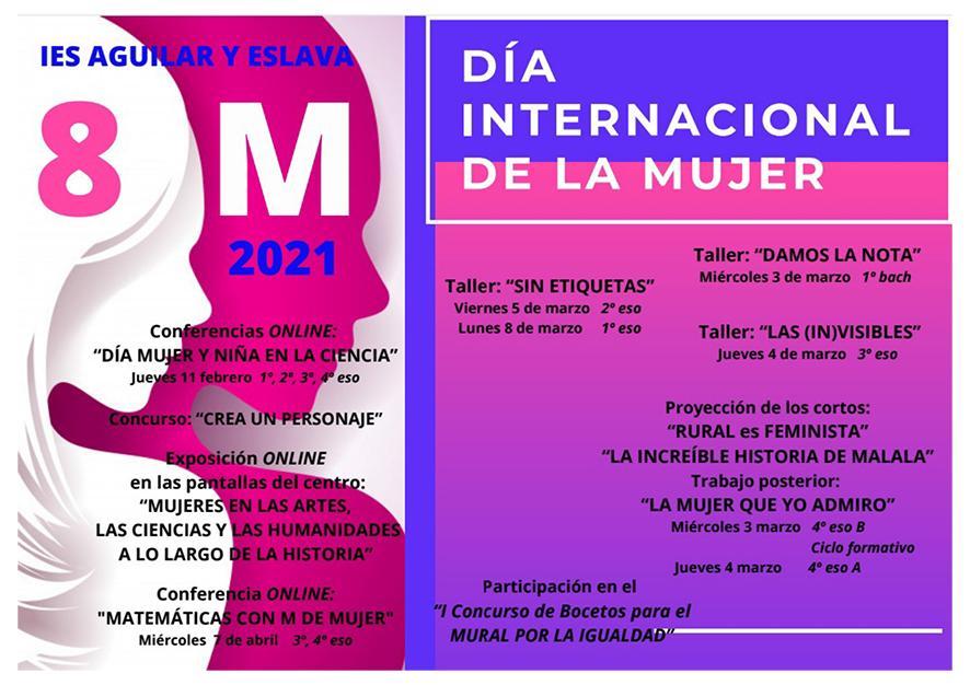 ACTIVIDADES DEL DÍA INTERNACIONAL DE LA MUJER (8 de marzo de 2021)