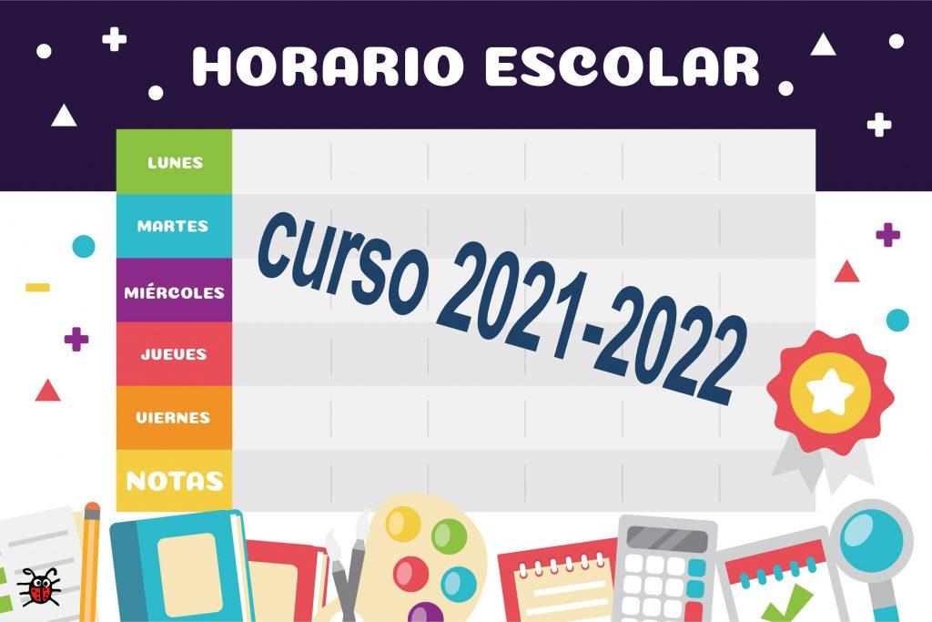 Horario, entradas y salidas del centro en el curso 2021/2022